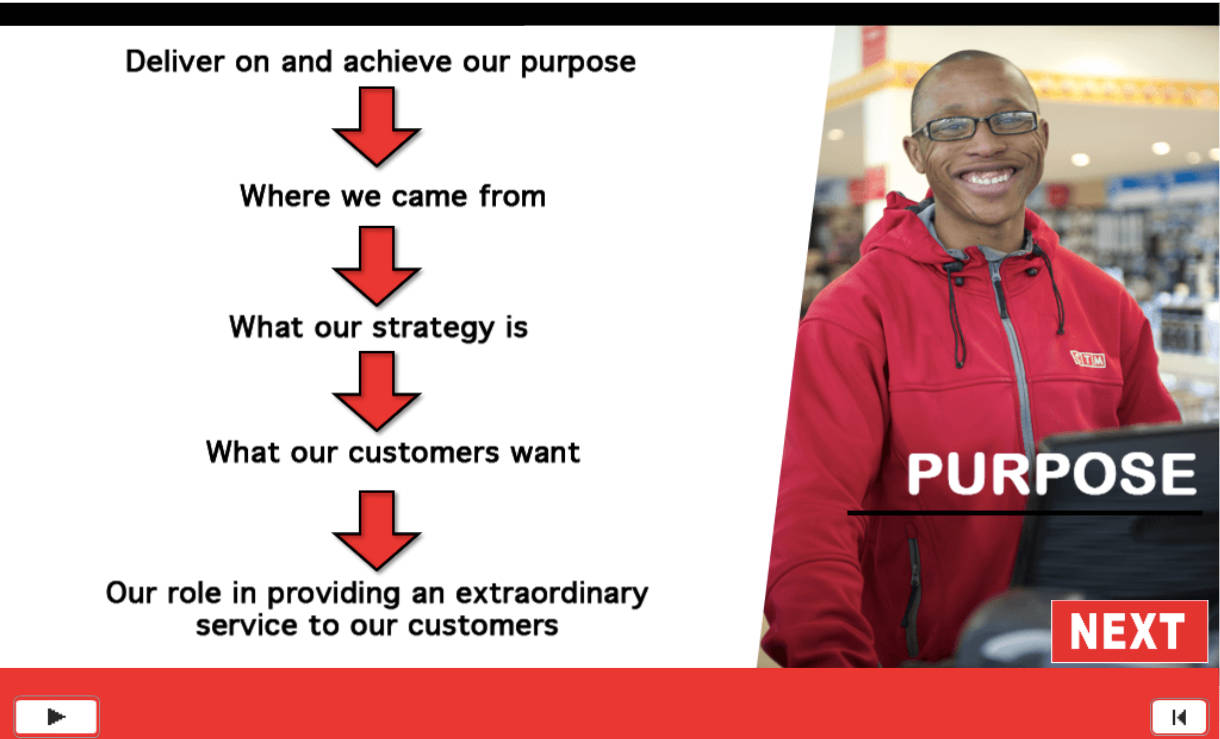 After this scree, we take the time to explain the word Purpose, Strategy and Extraordinary to the learners.